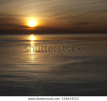 Sunset above the Pacific Ocean