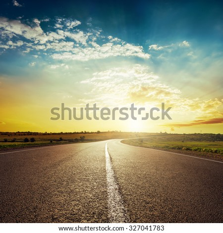 stock photo sunset and asphalt road 327041783 - Каталог - 3d фотообои
