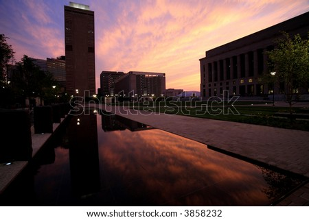 Sunset and Courthouse 2