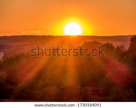 Photo of  Sunset and evening mood in spring