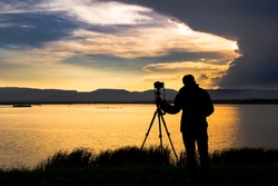 Sunset and photographer
