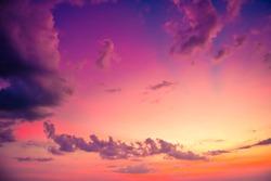 sunset and purple sky.