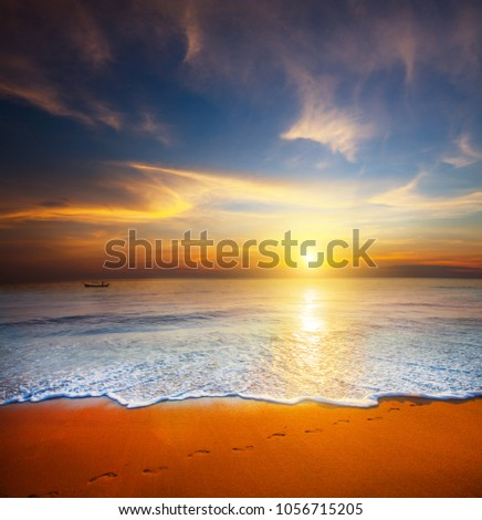sunset and sea #1056715205