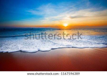 sunset and sea #1167596389