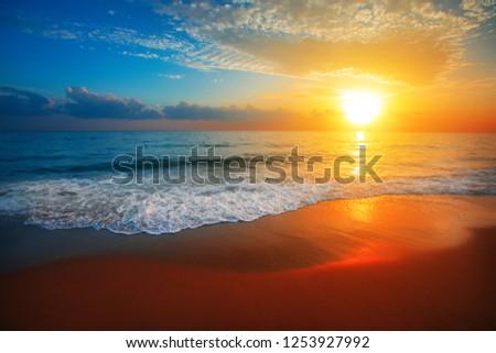 sunset and sea #1253927992
