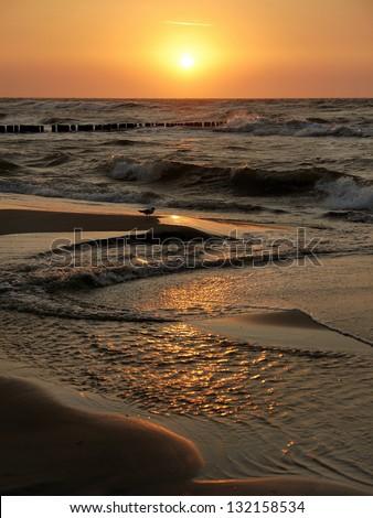 sunset and sea Zdjęcia stock ©