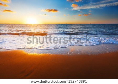 sunset and sea #132743891