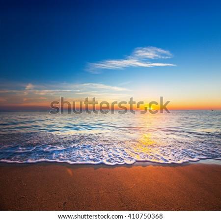 sunset and sea #410750368