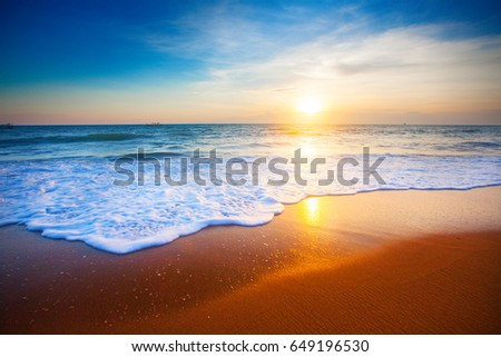 sunset and sea #649196530