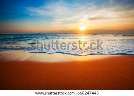 sunset and sea #668247445