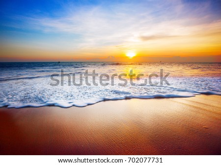 sunset and sea #702077731