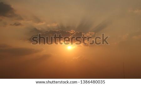 sunset and sunrise sky landscape background #1386480035