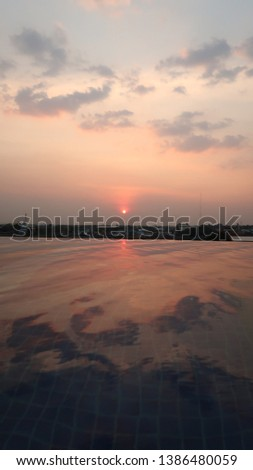sunset and sunrise sky landscape background #1386480059