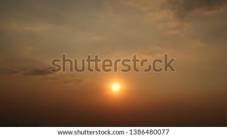 sunset and sunrise sky landscape background #1386480077