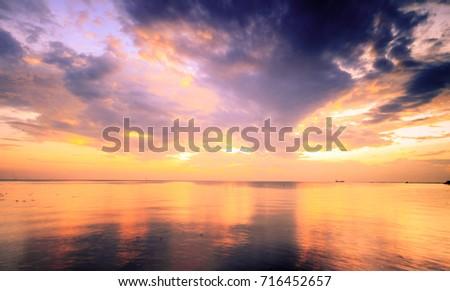 Sunset and view sea at Bang Poo Thailand #716452657