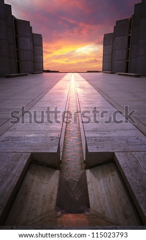 sunset architecture building