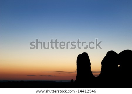 Sunset at Arches N.P. Foto stock ©