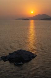 Sunset at Bafa Lake in Turkey.