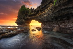 Sunset at Batu Bolong & Tanah Lot - Bali, Indonesia