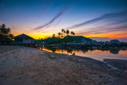 sunset at bintan islad, tanjung pinag, indonesia