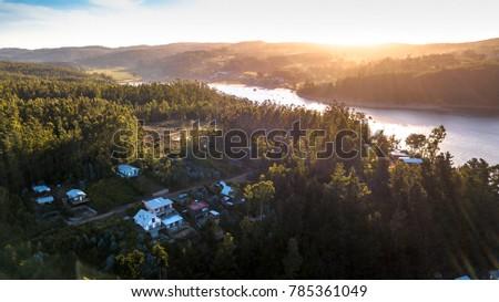 Sunset  at Bio Bio river, Chile #785361049