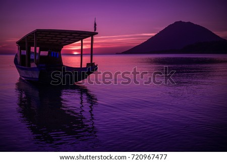 Stock Photo Sunset at Bunaken, Manado - North Sulawesi, Indonesia