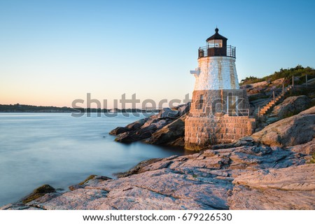 Sunset at Castle Hill Lighthouse on Newport, Rhode Island 1 #679226530
