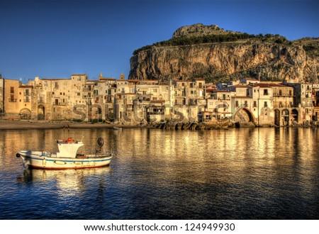 Sunset at Cefalu, Sicily