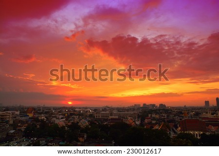 Sunset at city of Bangkok, Thailand #230012617