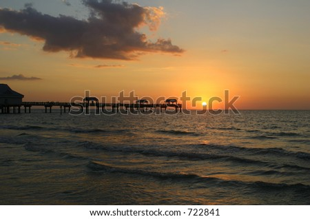 Sunset at Clear water beach, Florida