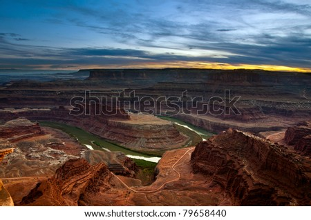 Sunset at Dead Horse Point State Park.