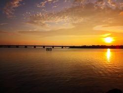 Sunset at Dompak Bridge - Bintan Island,
