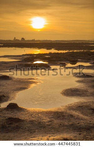 Sunset at Don Edwards San Francisco Bay National Wildlife Refuge ストックフォト ©