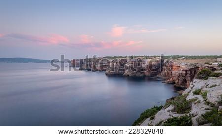 Sunset at Formentera island coast. Balearic islands, Spain - Shutterstock ID 228329848
