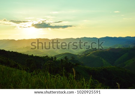 Sunset at Hillside in Oneday