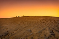 Sunset at Jockey Ridge State Park. Located in Nags Head, North Carolina. It is a tallest sand dune system in the eastern United States.