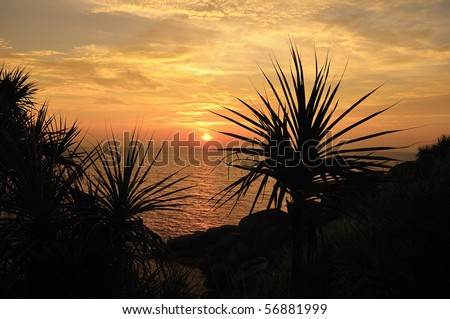 Sunset at Koh Si, Similan island, Thailand