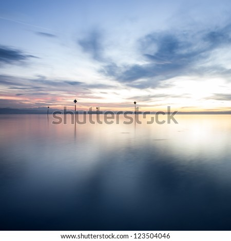 sunset at lake constance