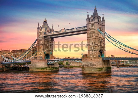 Sunset at London Bridge, London