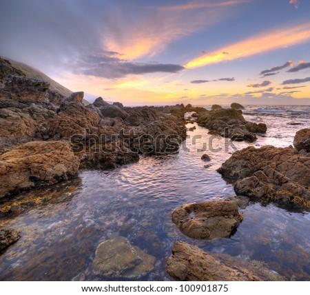 Sunset at Makara Beach