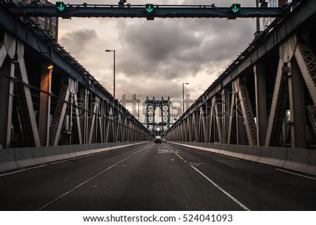 Sunset at Manhattan Bridge, New York City #524041093