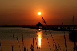 Sunset at Maryland.