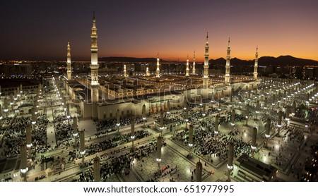 Sunset at Masjid an-Nabawi
