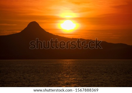 Sunset at Mayotte, Mount Choungui, Union of the Comoros, Africa