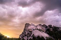 Sunset at Mt. Rushmore
