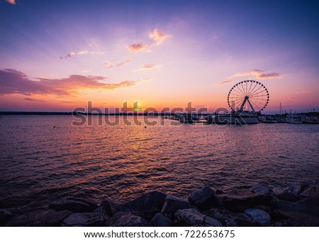 Sunset at National Harbor in Maryland #722653675