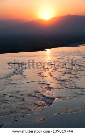 Sunset at Pamukkale (Turkey)
