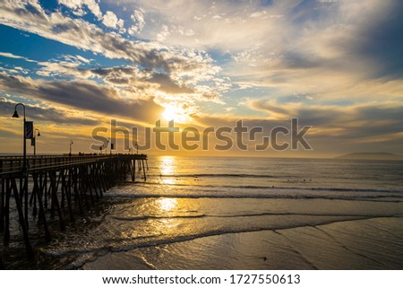 Sunset at Pismo Beach, California Zdjęcia stock ©
