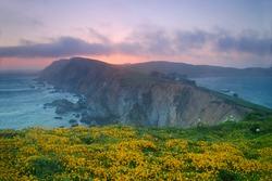 Sunset at Point Reyes, California