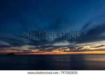 Sunset at Praia Grande (Large Beach), Arraial do Cabo, Rio de Janeiro, Brazil. January 2018. #797282830